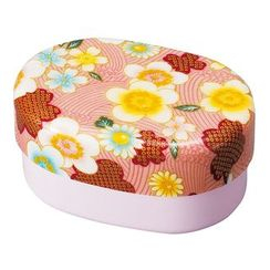 Hakoya - Hakoya Nunobari Oval Lunch Box Kaga Sakura (Pink)