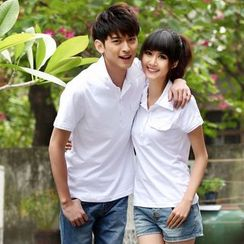 NoonSun - Couple Matching Short Sleeve Polo Shirt