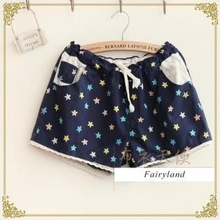 Fairyland - Drawstring Star Print Shorts