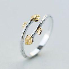 A'ROCH - 925 Sterling Silver Leaf Open Ring