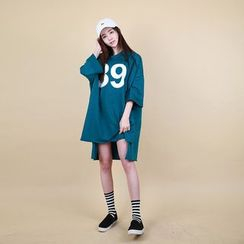 Vintage Vender - Lettering Oversized T-Shirt Dress