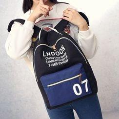 Bagolo - Canvas Color-Block Backpack