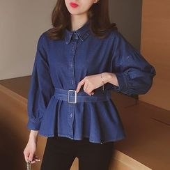 Cocofield - Denim Shirt with Belt