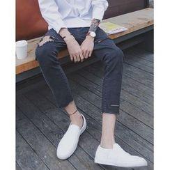 Mr. Cai - Slim-Fit Distressed Jeans