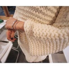 MARSHMALLOW - 3/4-Sleeve Knit Sweater