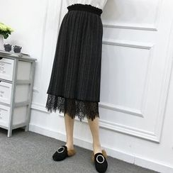 Be Bonita - Pleated Midi Skirt