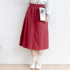Forest Girl - Plain Linen Cotton Skirt