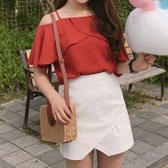 Queen Bee - Plain Wrap Mini Skirt