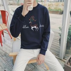 JORZ - Deer Embroidered Pullover