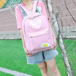 Tasche - Set: Print Backpack + Shoulder Bag + Zip Pouch + Drawstring Pouch