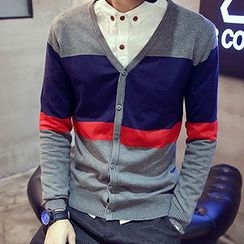 maxhomme - Color-Block Cardigan