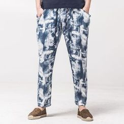 Ashen - Straight-Fit Printed Pants