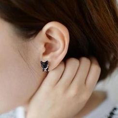 Ticoo - 3D Cat Single Earrings
