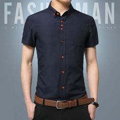 Riverland - Plain Short-Sleeve Shirt