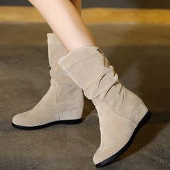 Pretty in Boots - Hidden Wedge Short Boots
