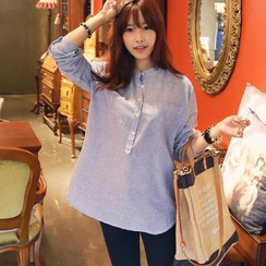 HOTPING - Half-Placket Striped Top