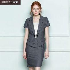 艾尚臣 - 套裝 / 短袖外套 / 短裙