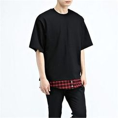 THE COVER - Contrasted-Trim Short-Sleeve T-Shirt