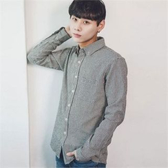 TOMONARI - Pocket-Front Gingham Shirt