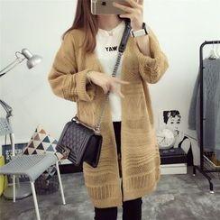 Hanaya - Loose-Fit Cutout Long Cardigan