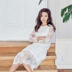 MAGJAY - Lace-Layered Midi Dress