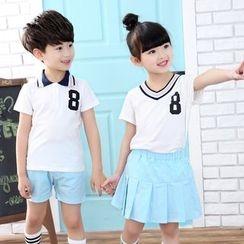 Famula - Kids Set: Short-Sleeve Top + Shorts/Skirt