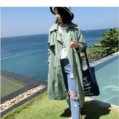Mariposa - Double Breasted Long Trench Coat