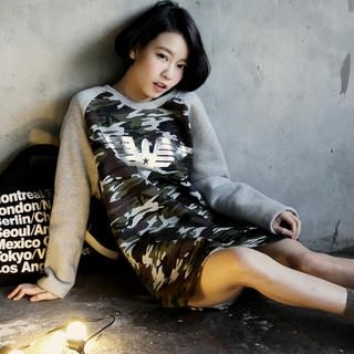 Tokyo Fashion - Camouflage Raglan Long Pullover