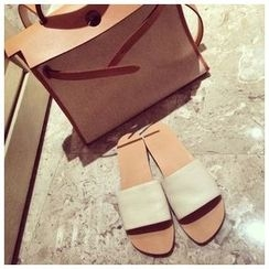 BAYO - Faux Leather Slide Sandals