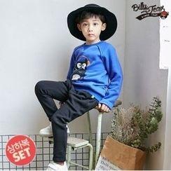 BILLY JEAN - Kids Set: Brushed Fleece Lined Printed Pullover + Harem Pants