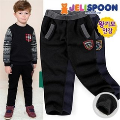JELISPOON - Kids Patch Fleece-Lined Pants