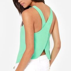 LIVA GIRL - Wrapped Back Sleeveless Chiffon Top