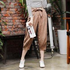 Tokyo Fashion - Tie-Waist Cropped Pants