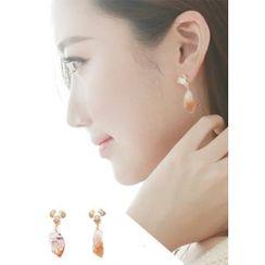 kitsch island - Crystal Stone Earrings