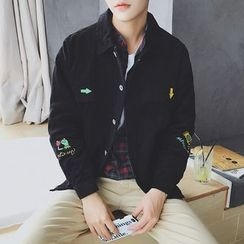 JUN.LEE - Embroidered Corduroy Jacket