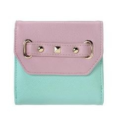 ans - Studded Color-Block Wallet