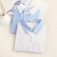 Fairyland - Unicorn Embroidered Chiffon Shirt