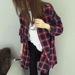 Moon City - Plaid Long Shirt