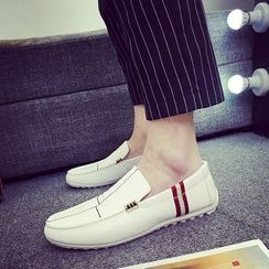 Solejoy - Striped-Trim Loafers