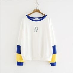 Storyland - Embroidery Panel Pullover
