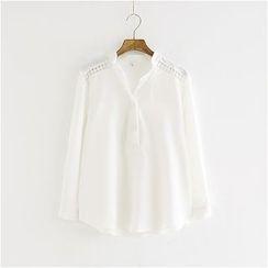 Storyland - Crochet-Trim Chiffon Shirt