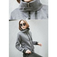 REDOPIN - High-Neck Zipped Jacket