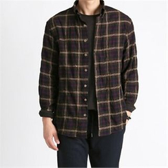 THE COVER - Long-Sleeve Plaid Shirt
