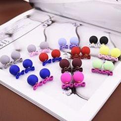 Ciroki - Bow Ball Double Sided Earrings