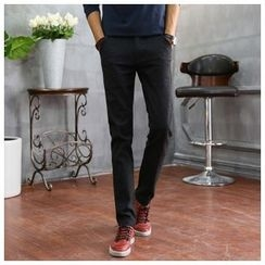 Leewiart - Linen-blend Slim-Fit Pants
