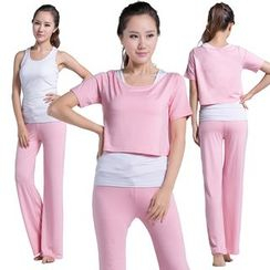 AIMIDA - Set: Yoga Tank Top + T-Shirt + Pants