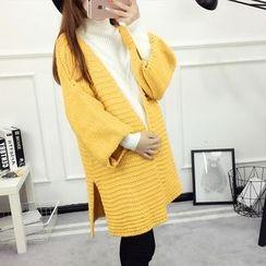 Soswift - Maternity Plain Long Chunky Sweater