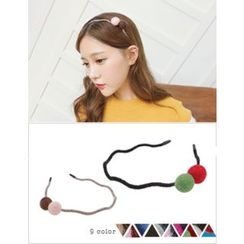 soo n soo - Pompom Slim Hair Band