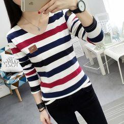 Carabecca - Striped Long Sleeve T-Shirt