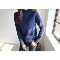 Hello sweety - Mock-Neck Raglan-Sleeve Knit Top